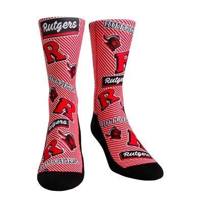 - NCAA Super Premium College Fan Socks (L/XL, Rutgers Scarlet Knights - Logo Statement)