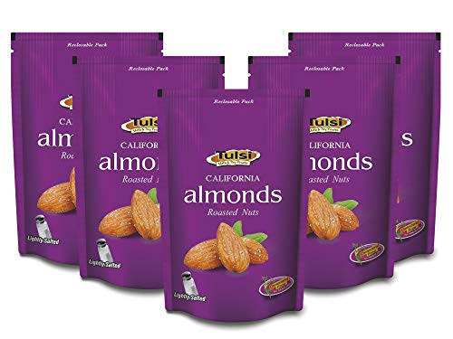 Tulsi Roasted Almonds Lightly Salted 200g (Pack of 5) 1000g