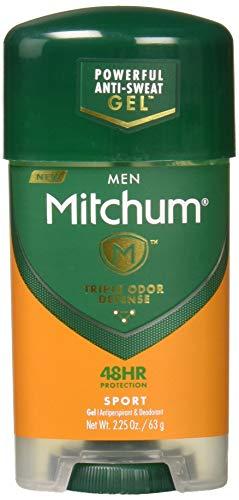 Mitchum Clear Gel Antiperspirant & Deodorant for Men-Super Sport-2.25 oz, 2 pk