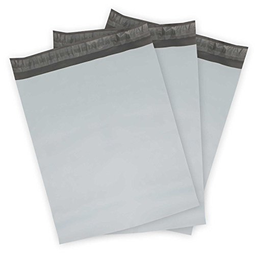 Pop Mailers Premium 9 in. x 12 in. Gray Poly Mailer Envelopes - 100 (Poly Security Envelope)