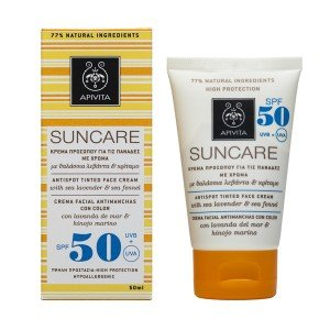 Apivita Antispot Tinted Spf50+ Face Cream with Sea Fennel & Sea Lavender 50ml / 1.7oz