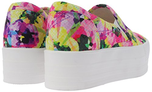 C7 Slip on Sneakers Platform Pink Denim Flower 50 White rfarw