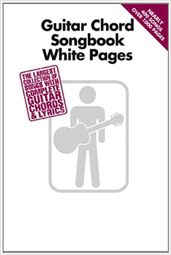 Amazon Guitar Chord Songbook White Pages 0884088613563 Hal