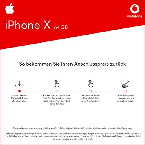 Apple Iphone X 64gb Speicher Handy Mit Vertrag 11gb Amazonde