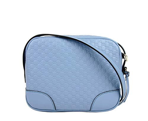 - Gucci Light Blue Guccissima Leather Micro Camera Bag 449413 4503
