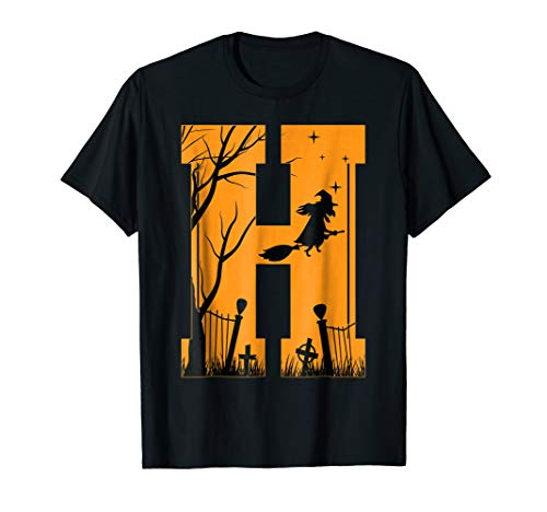 Letter H Halloween Costume Group Shirts -