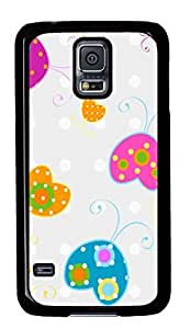 Cute Painting Love Bugs12 Polycarbonate Hard Case Cover for Samsung S5/Samsung Galaxy S5