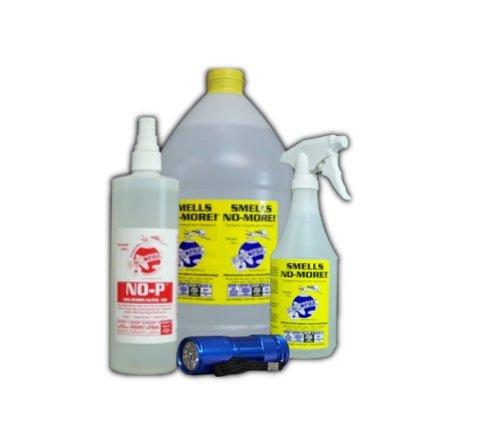 Large Hard Surface Cleaning Kit I - Pet Urine Odor Eliminator w/FREE Blacklight by Planet Urine