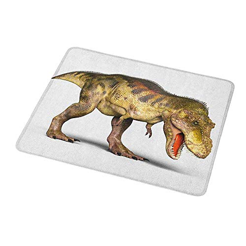 (Mouse Pad Unique Custom Dinosaur,Realistic 3D Style Prehistoric Animal Extinct Species Ancient Old,Tan Pale Yellow Army Green,Mousepad Great for Laptop,Computer 9.8