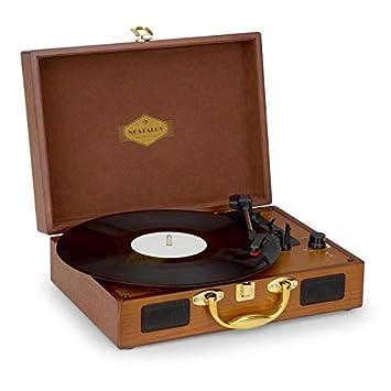 Auna Peggy Sue Gold Edition - Tocadiscos, Reproduce 3 tamaños de ...