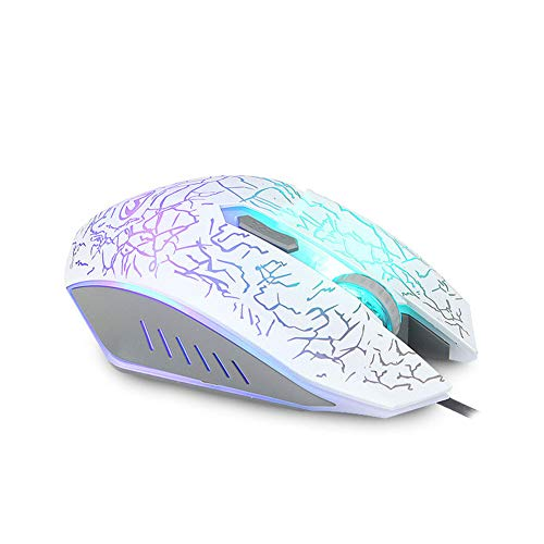 Game Mouse Mute Mouse Tour Backlit Crack Colorful Mouse RGB Light Double Competitor Ergonomics Mouse,B (Windows Embedded Standard 7 End Of Life)