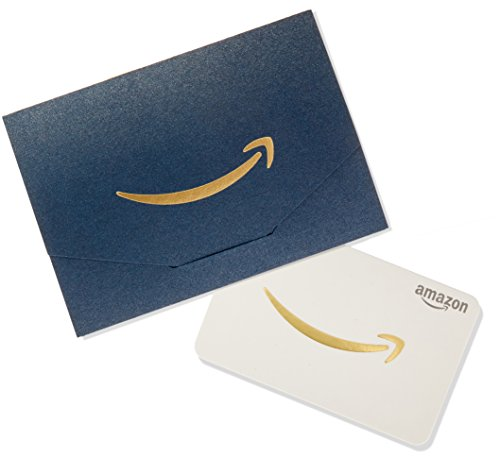 Amazon.com $25 Gift Card in a Mini Envelope (Navy and Gold)