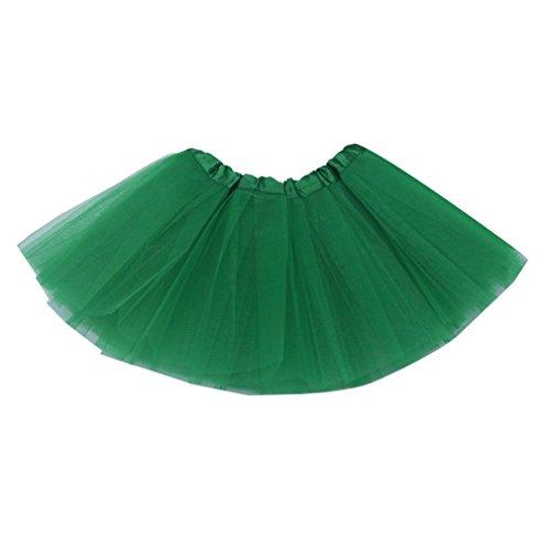 Dreamdanceworks Little Girls Baby  Toddler Tulle Tutu Skirt for 0-2 Years (Kelly Green)
