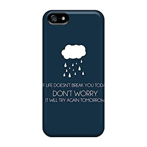 For Iphone 5/5s Protector Case Dont Worry Phone Cover