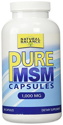 Natural Balance 1000 mg Pure MSM Nutritional Supplement, 240 Count by Natural Balance