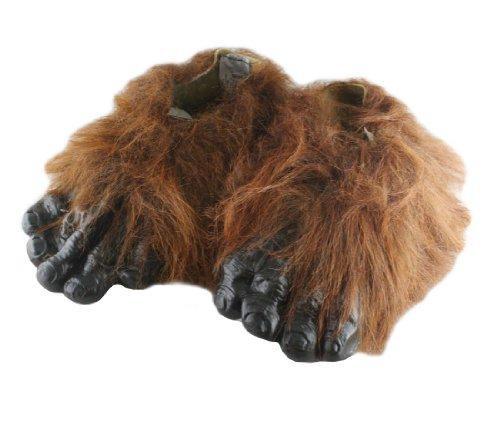 [Forum Novelties Men's Adult Werewolf Hairy Feet Costume Accessory, Brown, One Size] (Brown Hairy Feet)
