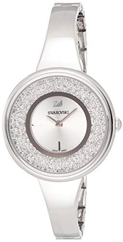 Swarovski Orologio Crystalline Pure, Bracciale di Metallo, Bianco, Acciaio Inossidabile 1