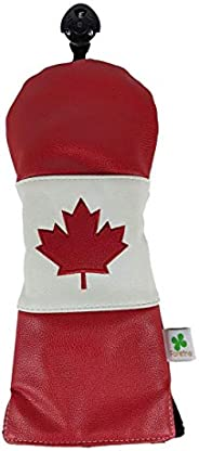 Foretra - Limited Edition Canada Flag Fairway Wood Headcover - Tour Quality Golf Club Cover - Style and Custom
