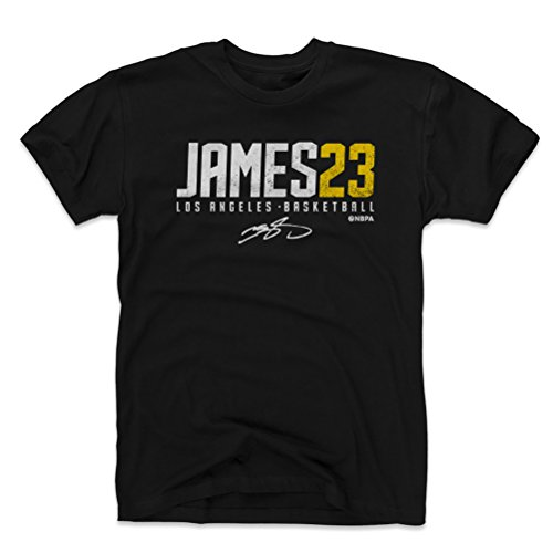 500 LEVEL Lebron James Cotton Shirt Large Black - Los Angeles Basketball Men's Apparel - Lebron James James23 W ()