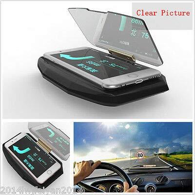 (FidgetGear Car SUV GPS Navigation Holder HUD Head Up Display Projector Mobile Phone Bracket)