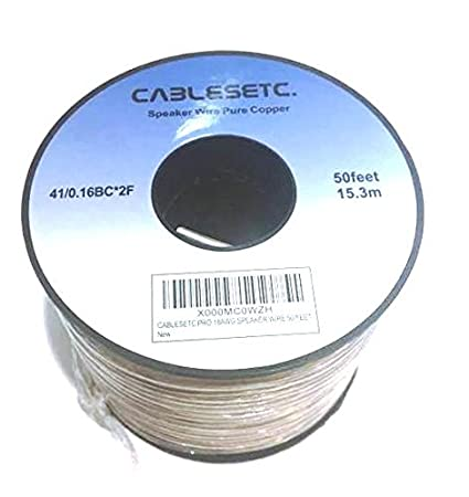Buy cablesetc pro series pure oxygen free stranded copper speaker buy cablesetc pro series pure oxygen free stranded copper speaker wire 15 meters 18 awg online at low prices in india amazon keyboard keysfo Choice Image