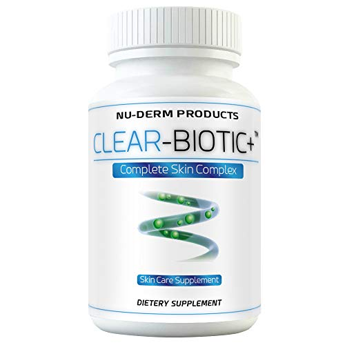 Acne Supplements Clear Biotic 20.1 gm Acne Pill Vitamins  A E C B2  Probiotic Pathway ()