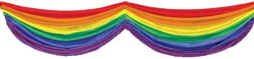 Rainbow Fabric Bunting Party Accessory (1 count) (Rainbow Bunting)
