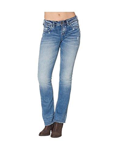 Silver Jeans Women's Suki High Rise Bootcut Jean, Indigo, 28x33 by Silver Jeans Co.