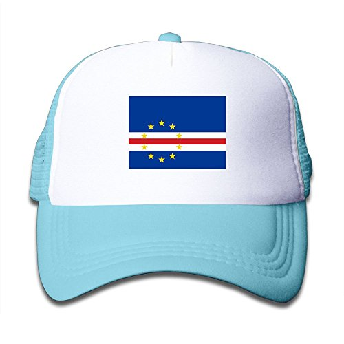 cheap Futong Huaxia Flag Of Cape Verde Boy & Girl Grid Baseball Caps Adjustable sunshade Hat For Children