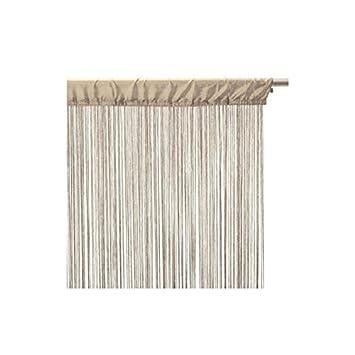 Rideau fil (largeur 120 cm) Lin: Amazon.fr: Cuisine & Maison