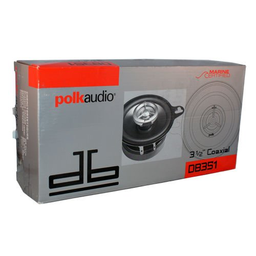 Price comparison product image Polk Audio DB351 2-Way 3.5 Car Stereo Coaxial Speakers Marine / Boat Certified