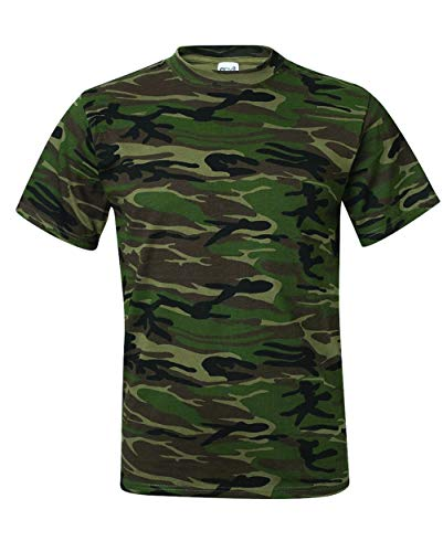 Custom Print Tees -Men's- Camouflage Forest Green T-Shirt ()