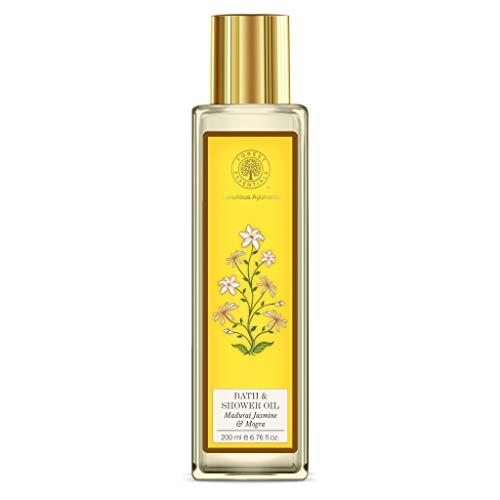 Forest Essentials Bath & Shower Oil - Madurai Jasmine & Mogra 200ml (Best Cold Cream For Oily Skin In India)