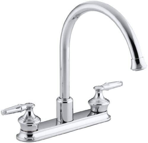 KOHLER K-15888-K-CP Coralais Decorator Kitchen Sink Faucet, Polished Chrome Handles Not Included