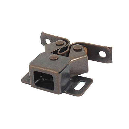 Double Cupboards Door (uxcell Cupboard Cabinet Caravan Door Metal Double Roller Catch Latch Hardware)