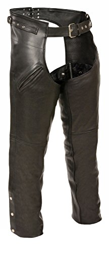 Milwaukee Leather Leather Mens Chaps Mens Leather Gun Holster Chaps With Thigh Pockets 3Xl Style # SH1123 by Milwaukee Leather