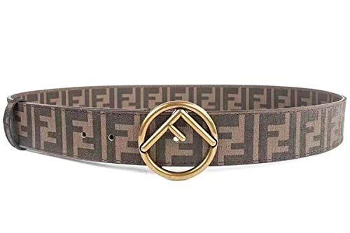 - Men's Alloy Leather Fashion F Letter Belt Jeans Belt (Coffee, 32