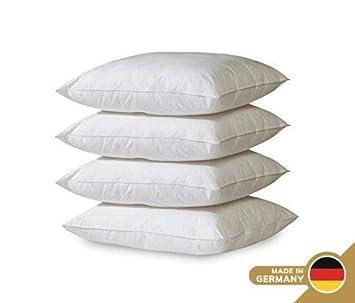 Gold Stern Kissen 4 X Polyester Vlies Füllkissen 50 X 50 Cm Set Premium Qualität Füllung Für Dekokissen Kopfkissen Sofakissen Couchkissen