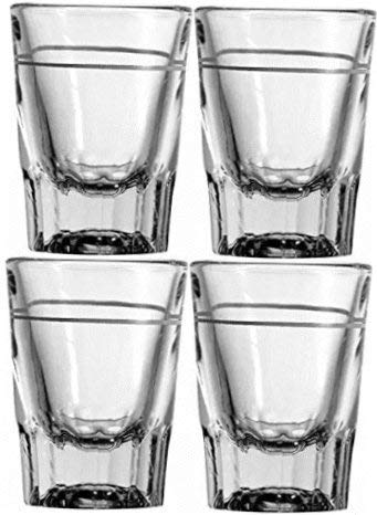 (2 oz Heavy Shot Glass with Line (Pack of 4) )
