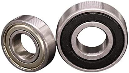 FLY MEN 10PCS 6001 6001ZZ 6001RS 6001-2RS Deep Groove Ball Bearing 12X28X8mm (Size : 2RS (NBR Seals))