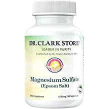Magnesium Sulfate USP (Epsom Salts), Constipation Relief, 1030mg, 100  Vegetarian... by Dr Clark Store