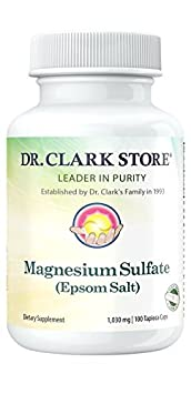 Amazon.com: Magnesium Sulfate USP (Epsom Salts), Constipation Relief,Vegetarian, 1030mg, 100 Capsules: Health & Personal Care