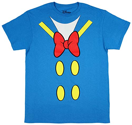 Disney Donald Duck Shirt Men's I Am Donald Costume Classic Cartoon Adult Licensed T-Shirt (X-Large) Turquoise -