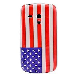 ZXM- Patrón de la bandera nacional de EE.UU. del caso duro para Samsung Galaxy S3 I8190 Mini