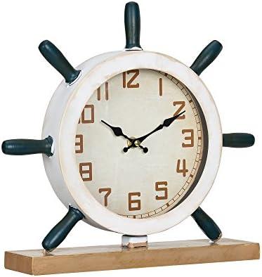 en.casa]® Reloj de mesa decorativo diseño marinero timón ...