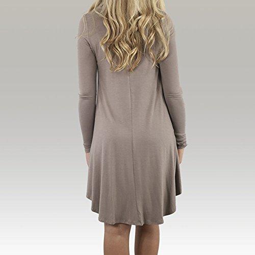 Leezeshaw - Vestido - para mujer café