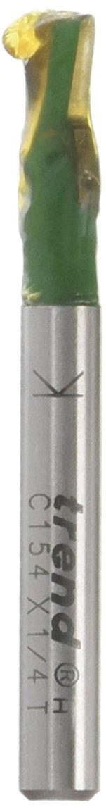 Trend UC154X1//4TC 6mm Diameter x 98 Degrees Dovetail Two Flute Bit Trend Routing Technology U*C154X1//4TC