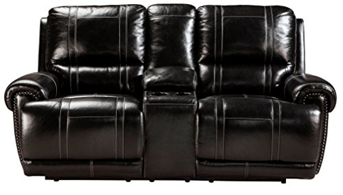 Signature Design by Ashley U7590194 Paron Collection Reclining Loveseat with Console, Antique