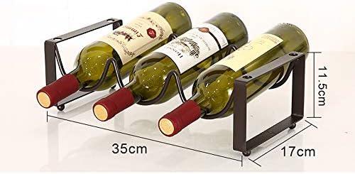 Estante del metal del almacenaje del vino vino, botellas retornables organizador del sostenedor del doble del diseño de la onda estante del vino simple para encimera Gabinete Almacén, cromo,One: Amazon.es: Hogar