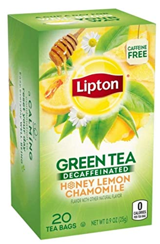 - Lipton Green Tea Honey Lemon Tea Bags, 20ct(Case of 2)